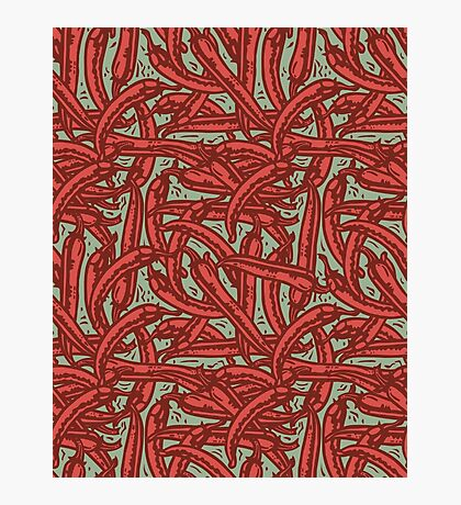 Red Pepper - pattern Photographic Print