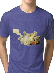 Pikachu Cat Tri-blend T-Shirt