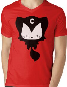 Cat Cute Cartoon Mens V-Neck T-Shirt