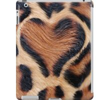 leopard fur heart iPad Case/Skin