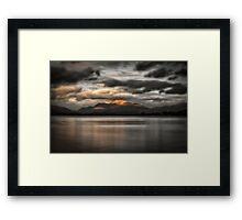 Sunset Over Loch Lomond Framed Print