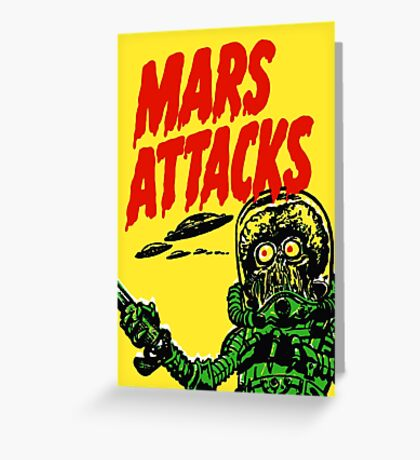 Mars Attacks Greeting Card