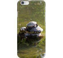 turtles on lake iPhone Case/Skin