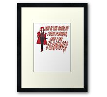 Grell is Flaming Red! Framed Print