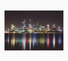 Perth Skyline By Night Kids Tee