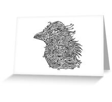 Birds - Tattoo Black and White Greeting Card