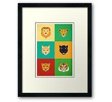 Felines Personalities Framed Print