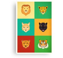 Felines Personalities Canvas Print