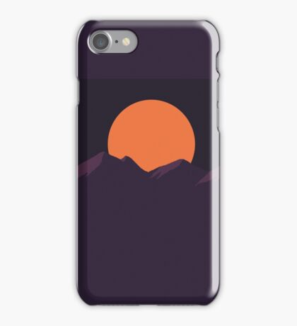 Purple Pixel Sunset iPhone Case/Skin