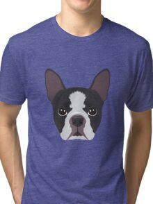 Boston Terrier Pyjama T-Shirt Tri-blend T-Shirt