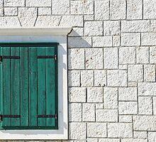 Closed shutters by Arie Koene