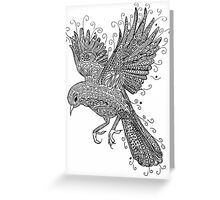 Birds - Black and White Tattoo Greeting Card