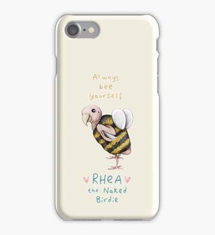 Rhea - Always Bee Yourself iPhone Case/Skin