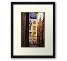Backstreets Gamlastan, Stockholm Framed Print