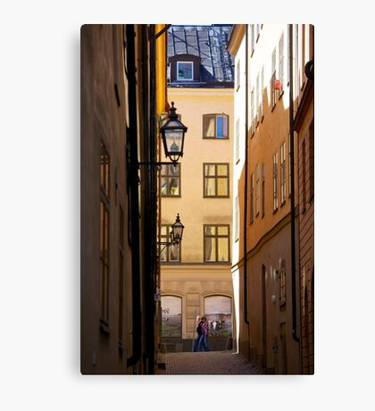 Backstreets Gamlastan, Stockholm Canvas Print