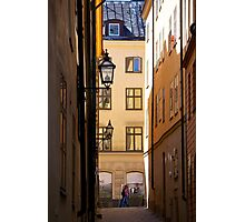 Backstreets Gamlastan, Stockholm Photographic Print