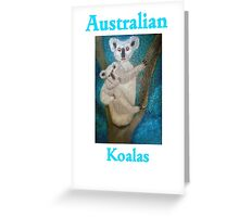 Australian Koalas (Card) Greeting Card