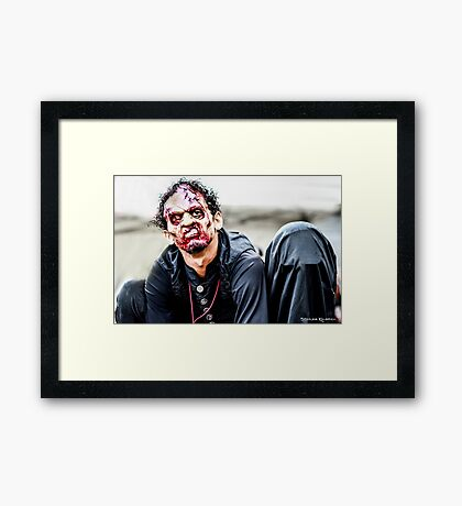 Waiting for the carnage Framed Print