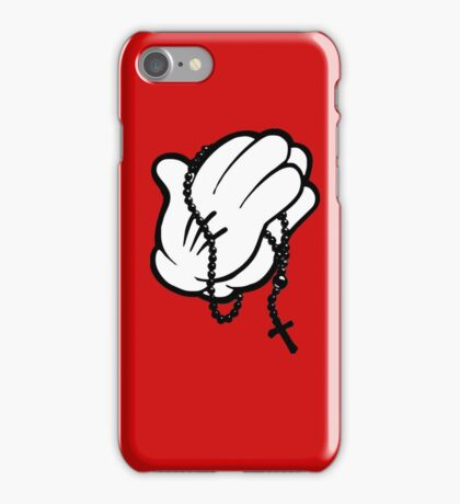 Funny praying hands iPhone Case/Skin