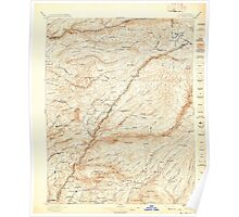 USGS TOPO Map California CA Big Trees 299216 1897 125000 geo Poster