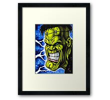 The Creature of Frankenstein Framed Print