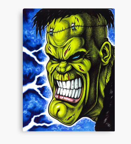 The Creature of Frankenstein Canvas Print