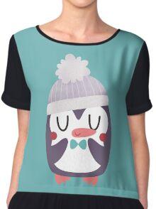 Cute Cozy Penguin Chiffon Top