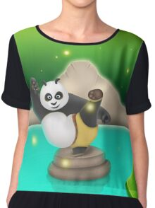 Cool Panda Chiffon Top