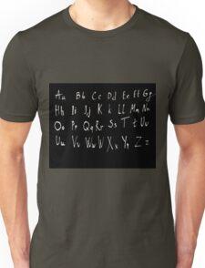 Hand drawn english alphabet Unisex T-Shirt