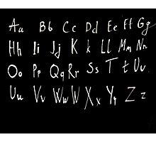 Hand drawn english alphabet Photographic Print