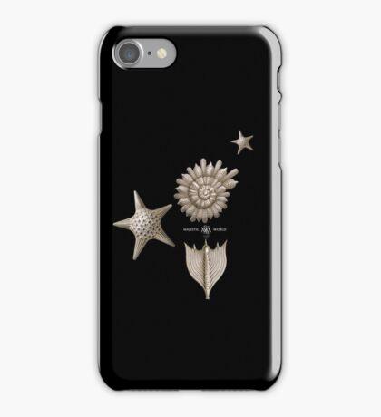 Seestern & Muscheln auf schwarz, Majestic-World, M.A.MARTIN iPhone Case/Skin