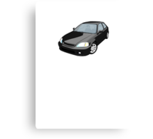 Black EK JDM Hatchback Canvas Print