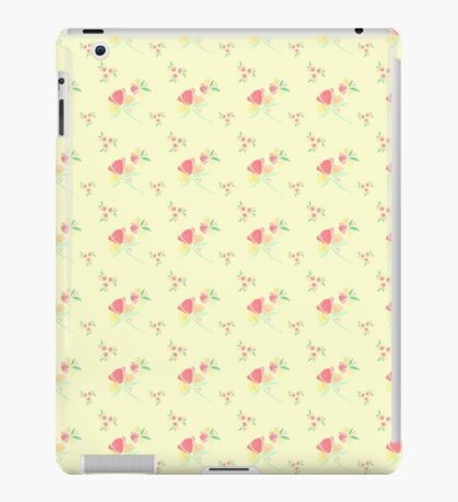 Watercolor Flower ~ Yellow Background iPad Case/Skin