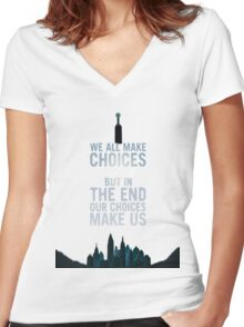 Choices - Bioshock Women's Fitted V-Neck T-Shirt