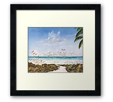 My Paradise Location Framed Print