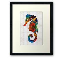 Colorful Seahorse Art by Sharon Cummings Framed Print