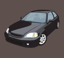 Black EK JDM Hatchback by carsaddiction