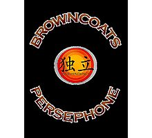 Browncoats Persephone on Black Photographic Print
