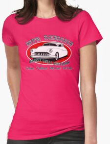 HTR Designs Barely Legal Kustoms garage Womens Fitted T-Shirt