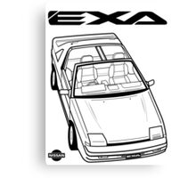 Nissan Exa Action Shot Canvas Print