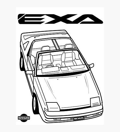 Nissan Exa Action Shot Photographic Print