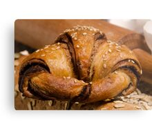 Chocolate filled croissant pastry snack Metal Print