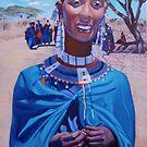 Massai Beauty in Blue. by Tatyana Binovskaya