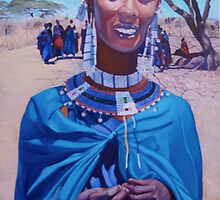 Massai Beauty in Blue. by Tatyana Binovskaya