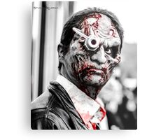 A bloody look that scares Metal Print