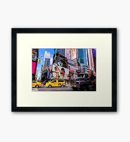 The Colors of Times Square II Framed Print