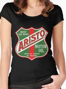 Aristo Motor Oil vintage sign reproduction Women's Fitted Scoop T-Shirt