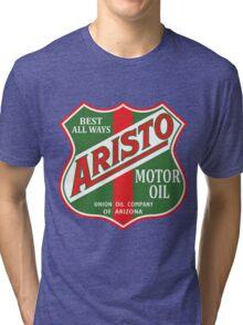 Aristo Motor Oil vintage sign reproduction Tri-blend T-Shirt