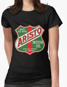 Aristo Motor Oil vintage sign reproduction Womens Fitted T-Shirt