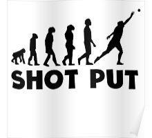 Shot Put Evolution Poster